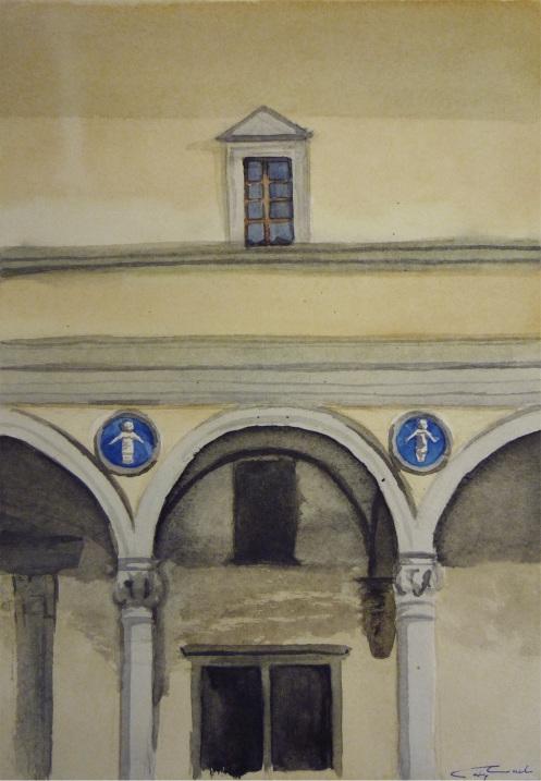 detail of Ospedale degli Inocenti, Florence