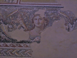 A part of the frame surrounding the Dionysus panels, we saw in this beautiful mosaic that Jesus may have seen great works of art, such as this. 1st-century Galilee was not necessarily as backwoods or uncultured as we sometimes assume.