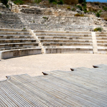 "The Roman theater at Sepphoris. It could be asked, ""Did Jesus go to the theater?"" Again, no textual proof, but where else would he have developed his understanding of ""hypocrites"" (Matthew 6:2, 5), which is Greek for ""stage-actors""? Fun to wonder."