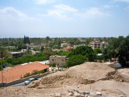 The Jericho Tel is in modern Jericho's backyard. Strange to see some of the oldest sites we'll see on this trip right next to present day neighborhoods. This is what this trip is all about: making the Bible come alive.