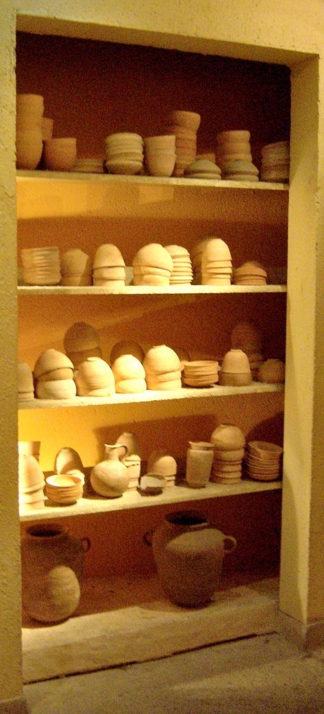 Replica of pottery found at Qumran