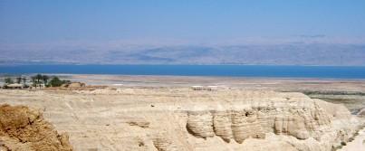 The Dead Sea, as seen behind Qumran