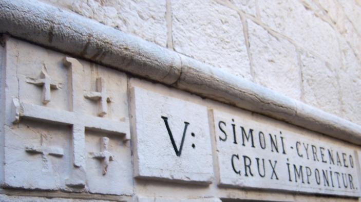 Station 5: Simon the Cyrene takes up the cross