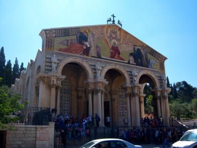 Gethsemane facade mosaid