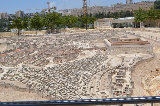 I found this model of ancient Jerusalem fascinating to look at and walk around.