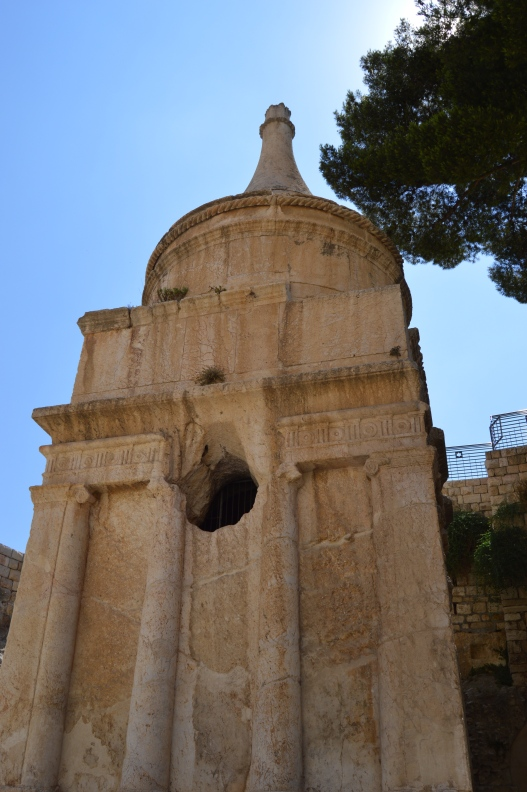 """This tomb is """"Absalom's Pillar."""""""
