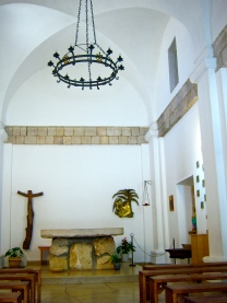 The prayer chapel in the Carmelite monastery
