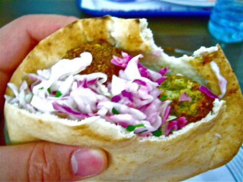 And, of course, felafel for lunch!