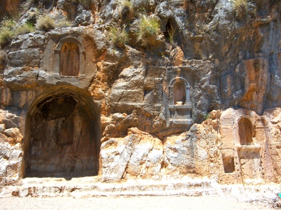 Each of these niches would have housed a statue of a god or goddess worshiped here: Pan, Echo, Nemesis, and others. Cultic practices involved animal sacrifice, sexual rituals, and other acts that must have shocked the good Jewish boys from rural Galilee.