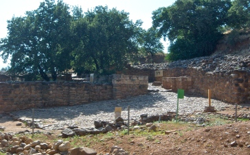 "These are the partially-reconstructed city gates of an older city built on the same site. City gates are more than just the door into the city, but a maze of walls and storerooms and plazas, where much of the economic and social life of a village took place. This is why, in Ruth 4, Boaz goes to the city gates to wait for his kinsman to ""redeem"" Ruth. Elders would have sat together in these little alcoves in the gates to discuss such matters, and arbitrate disputes, and conduct business."