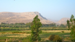Mt. Arbel, seen from our hotel