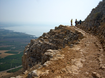 Rounding the face of Arbel