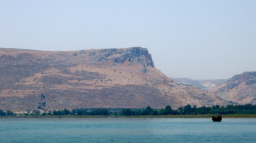 Mt. Arbel, seen from Sea of Galilee